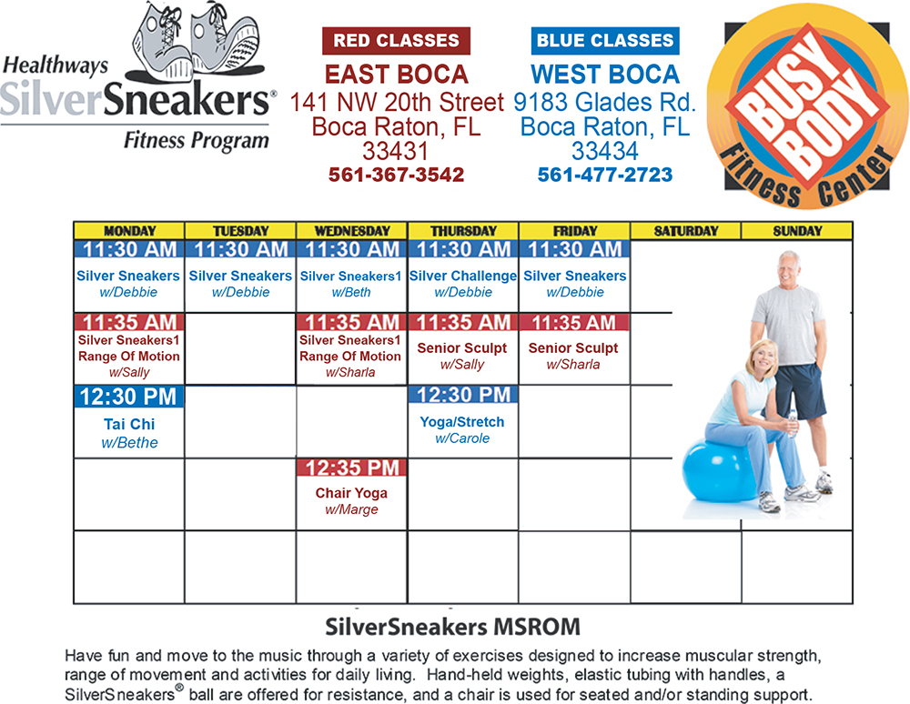 Busy Body Fitness Center West Boca Raton Silver Sneakers Class Schedule