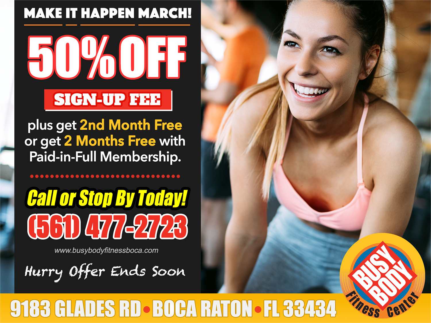 Membership Specials for March 2021